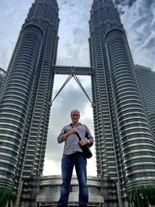 Below the Petronas Towers