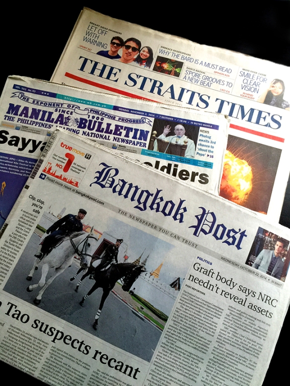 South East Asian newspapers