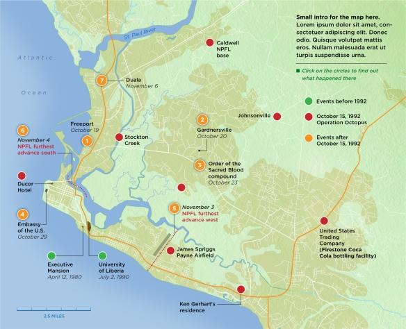 Silueta mapa Monrovia