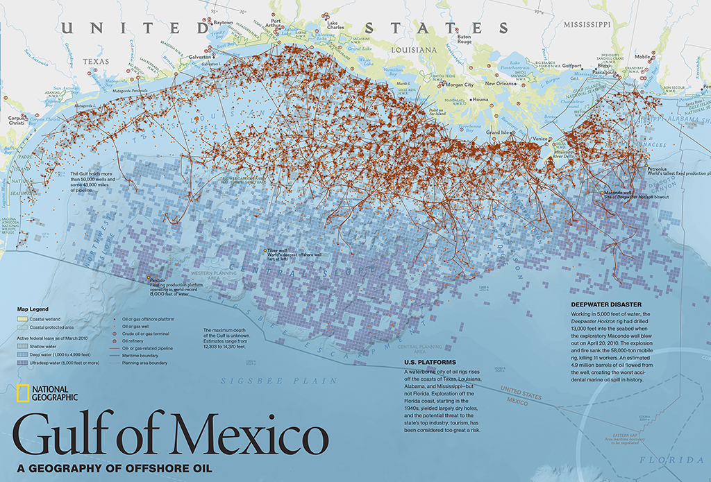 The failing promise of gis mapping in news and some free maps 5w all oil and gas platforms pipelines leases wetlands and protected area in the guld of mexico made with gis layered data copyright national geograpic gumiabroncs Gallery