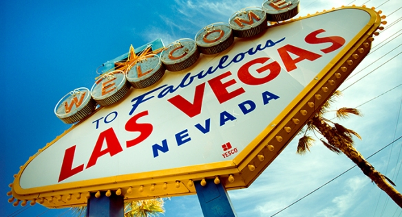 Historic Las Vegas sign with retro tone
