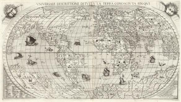 Universale Descrittione Di Tutta la Terra Conosciuta Fin Qui, by Donato Bertelli. 1568