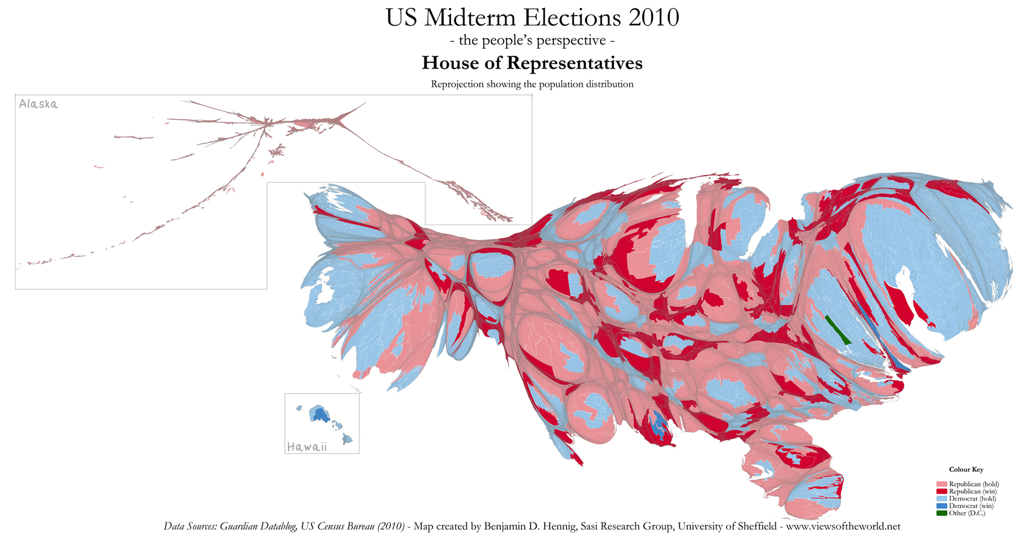 The Power Of Cartograms And Creating Them Easily W Blog - Us county population map cartogram