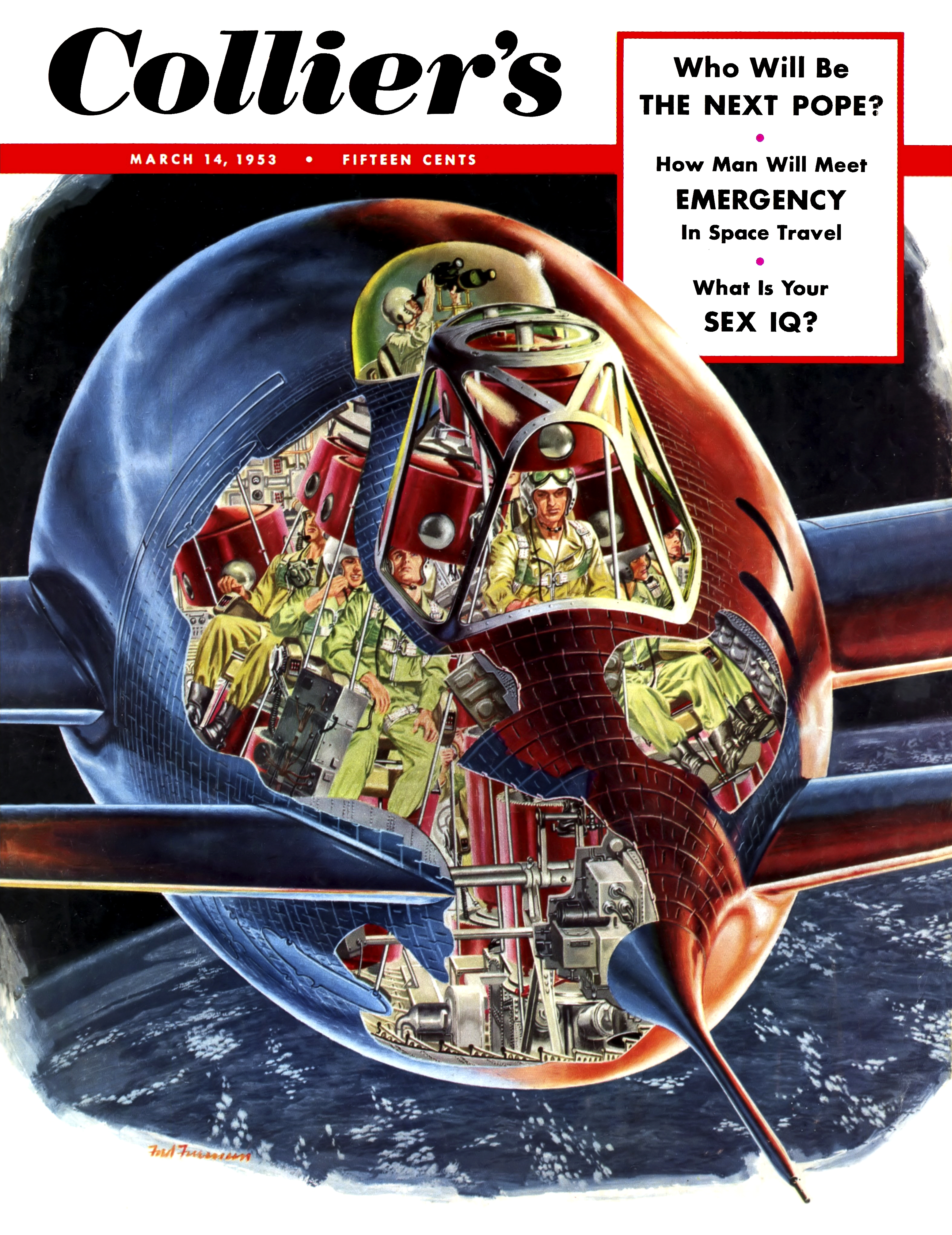 Collier 3.14.1953-Cover-Emergency in space travel.jpg
