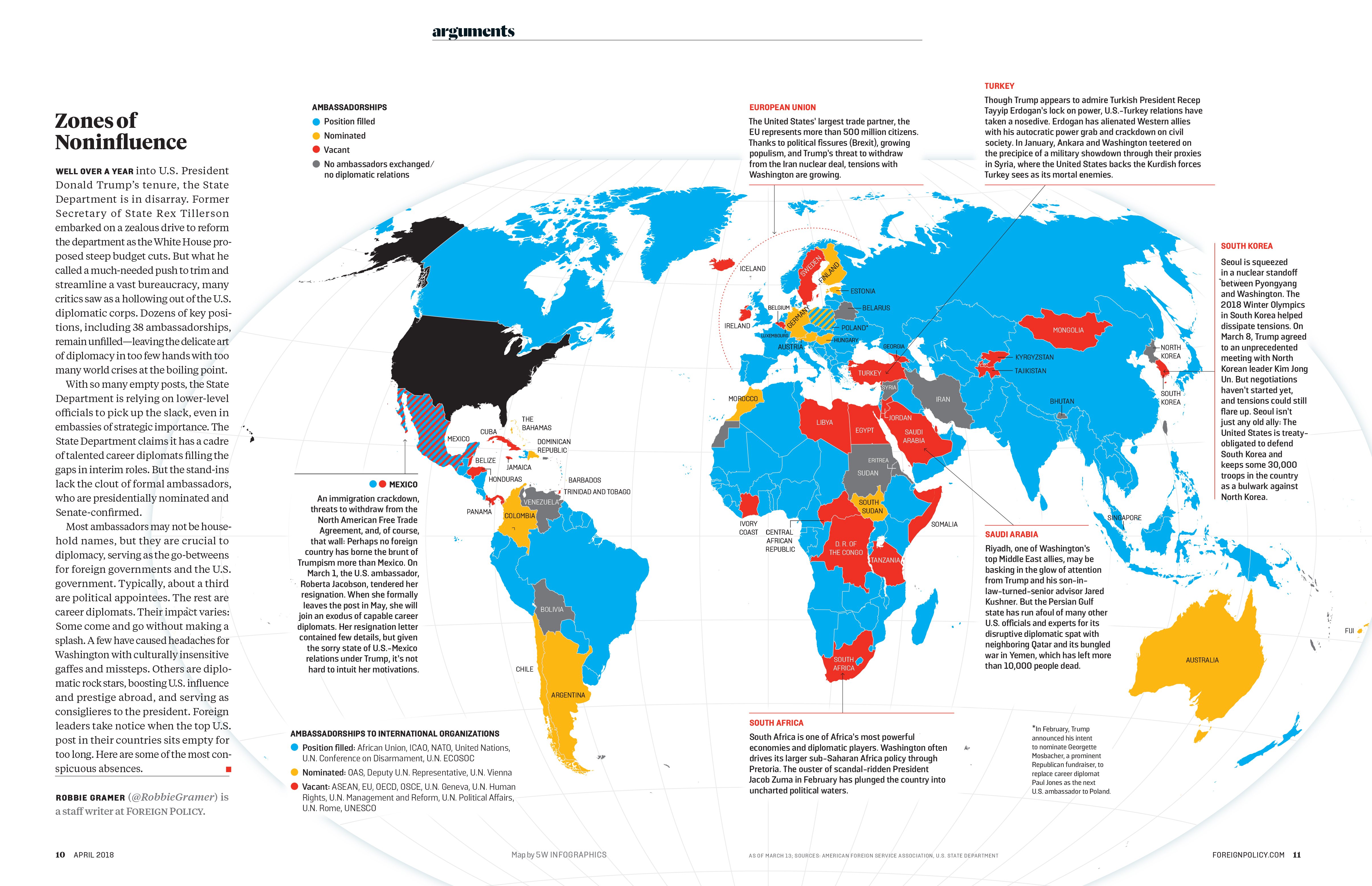 Zones of noninfluence new map for foreign policy magazine 5w blog well over a year into us president donald trumps tenure the state department is in disarray says the latest issue of foreign policy magazine publicscrutiny Images